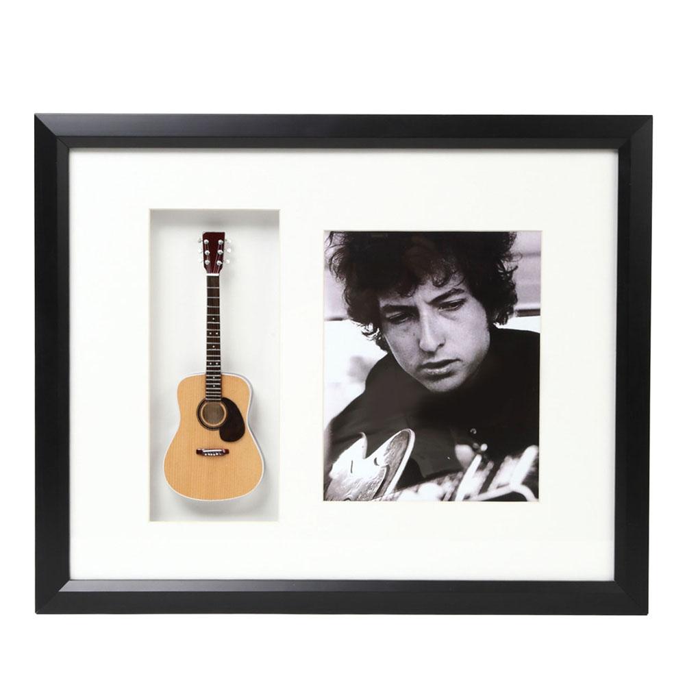 BOB DYLAN ボブディラン (生誕80周年 ) - Mini Guitar Framed Shadow Box / ミニチュア楽器 【公式 / オフィシャル】