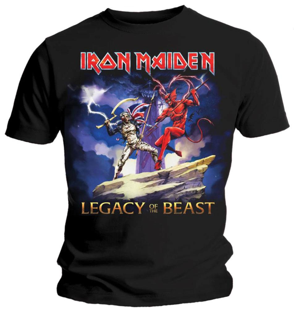 IRON MAIDEN アイアンメイデン (来日記念 ) - LEGACY BEAST FIGHT / バックプリントあり / Tシャツ / メンズ 【公式 / オフィシャル】