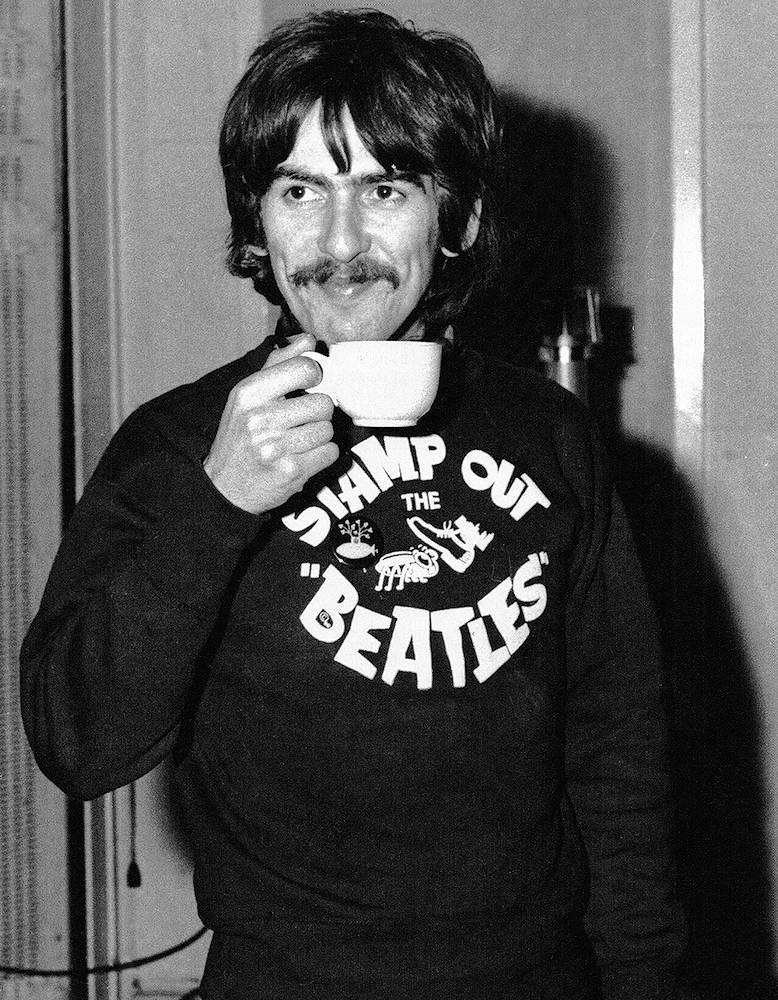 GEORGE HARRISON ジョージ・ハリスン (ジョージ・クラプトン来日コンサート30周年 ) - Stamp Out The Beatles(ジョージ・ハリスン愛用) / スウェット・パーカー / メンズ