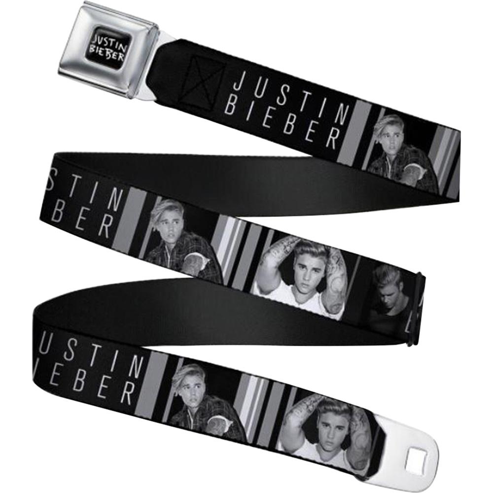 JUSTIN BIEBER ジャスティンビーバー - Seatbelt Belts / 3-POSES / COLOR BLACK / ベルト・バックル 【公式 / オフィシャル】