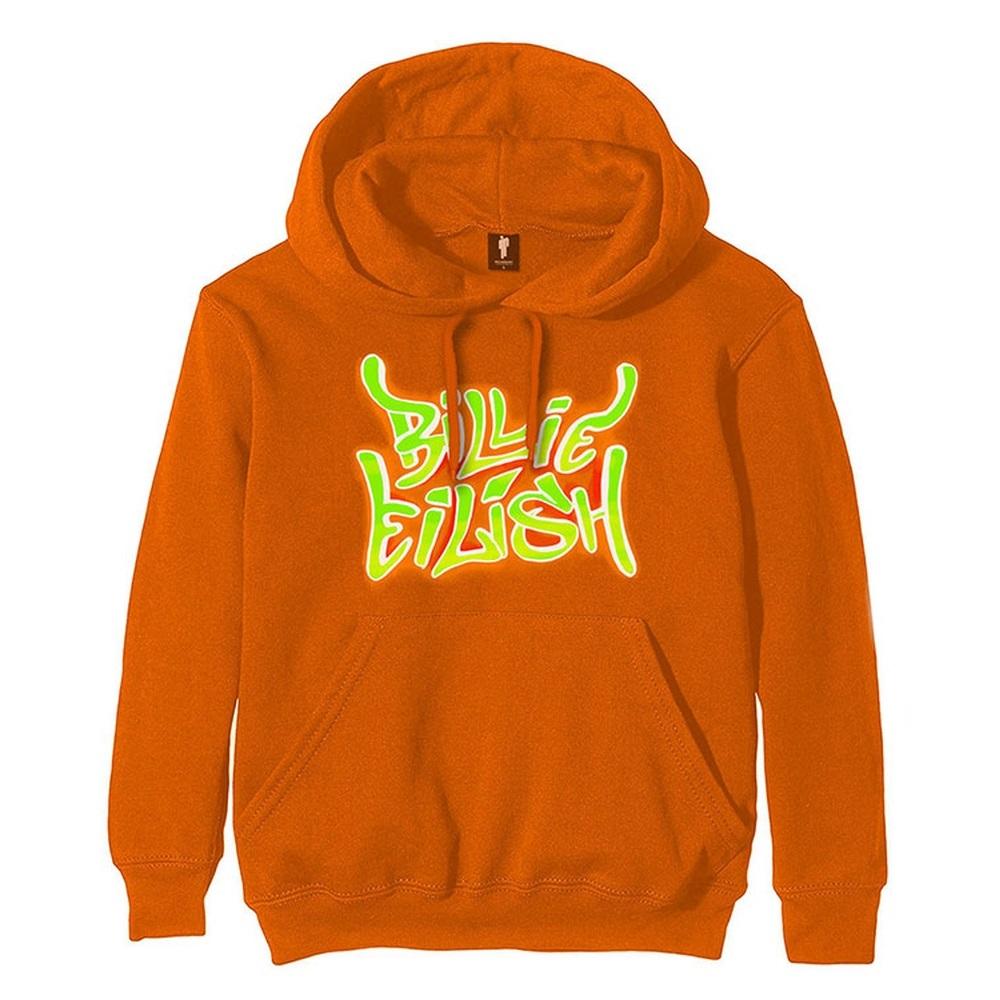 BILLIE EILISH ビリーアイリッシュ - Airbrush Flames Blohsh / バックプリントあり / スウェット・パーカー / メンズ 【公式 / オフィシャル】