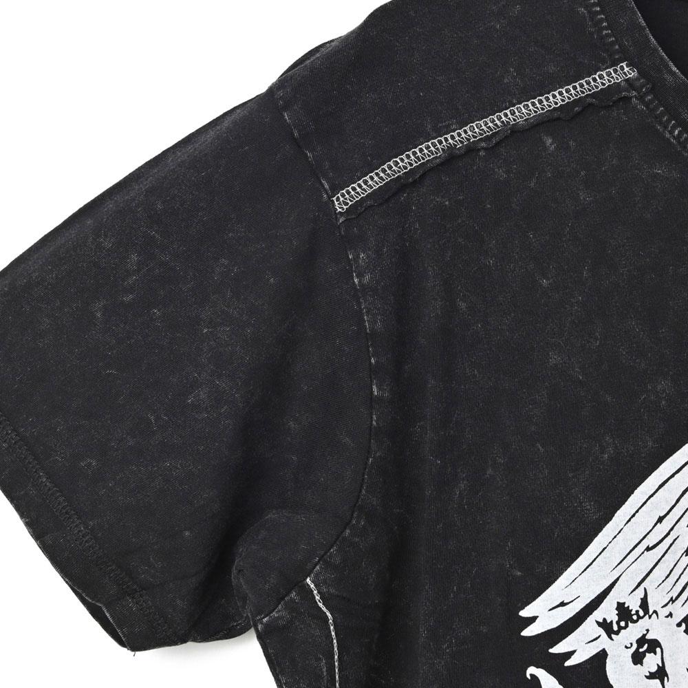 QUEEN クイーン (結成50周年 ) - Classic Crest / Black Label(ブランド) / Snow Wash / Tシャツ / メンズ 【公式 / オフィシャル】