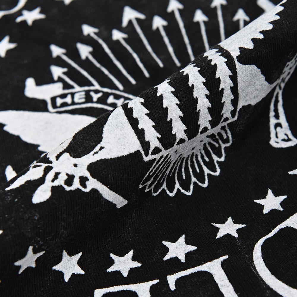 RAMONES ラモーンズ (デビュー45周年 ) - Presidential Seal / Black Label(ブランド) / Snow Wash / Tシャツ / メンズ 【公式 / オフィシャル】
