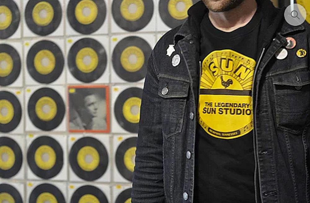 SUN STUDIO サンスタジオ - Record Logo / Tシャツ / メンズ 【公式 / オフィシャル】