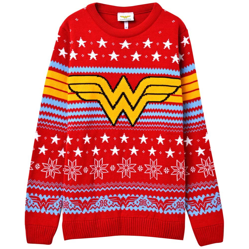 WONDER WOMAN ワンダーウーマン - Logo Star / セーター・ニット / メンズ 【公式 / オフィシャル】