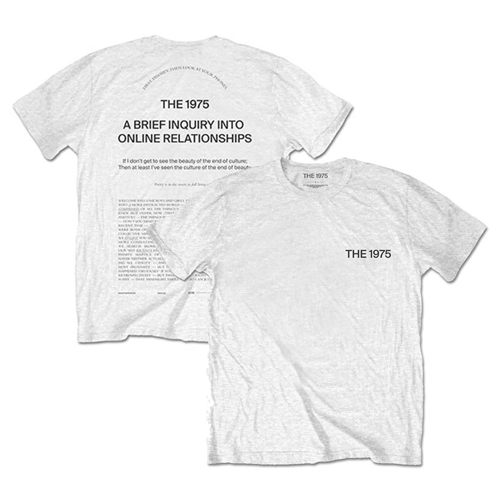 THE 1975 - ABIIOR Wecome Welcome / バックプリントあり / Tシャツ / メンズ 【公式 / オフィシャル】