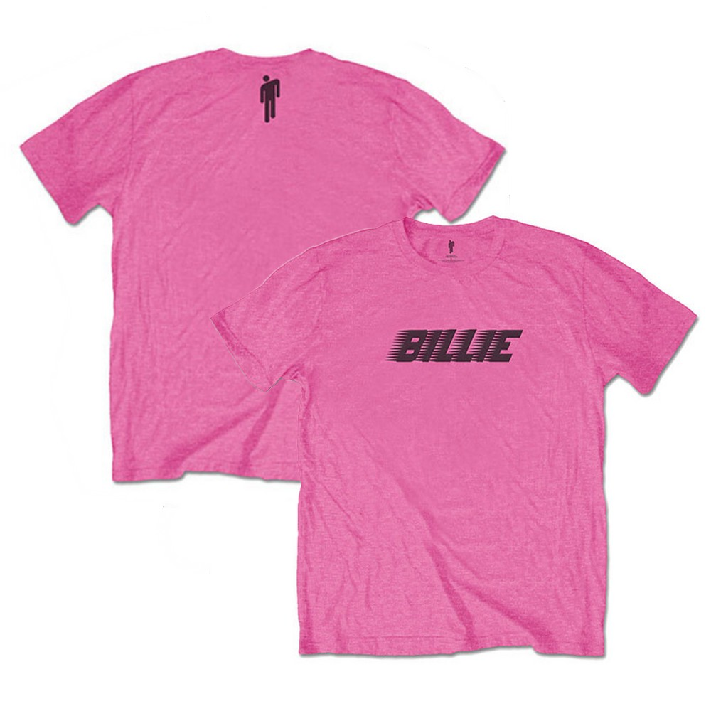 BILLIE EILISH ビリーアイリッシュ - Racer Logo & Blohsh / バックプリントあり / Tシャツ / メンズ 【公式 / オフィシャル】