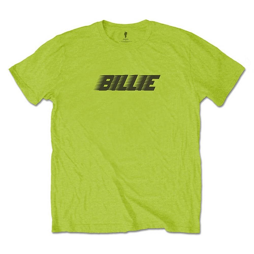 BILLIE EILISH ビリーアイリッシュ (デビュー5周年 ) - Racer Logo & Blohsh / バックプリントあり / Tシャツ / メンズ 【公式 / オフィシャル】