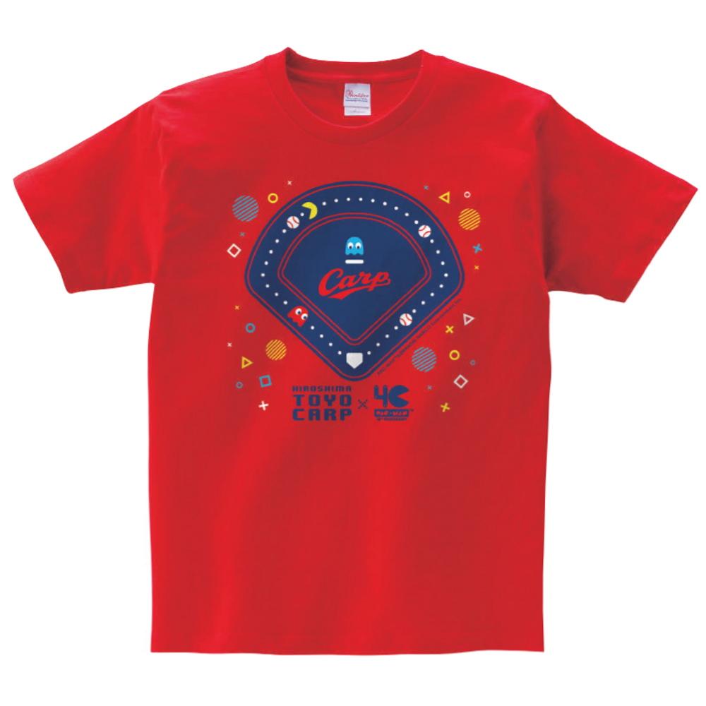 【予約商品】 PAC-MAN パックマン - パックマン生誕40周年限定商品 / カープ×パックマンコラボ / ポップ / Tシャツ / メンズ 【公式 / オフィシャル】