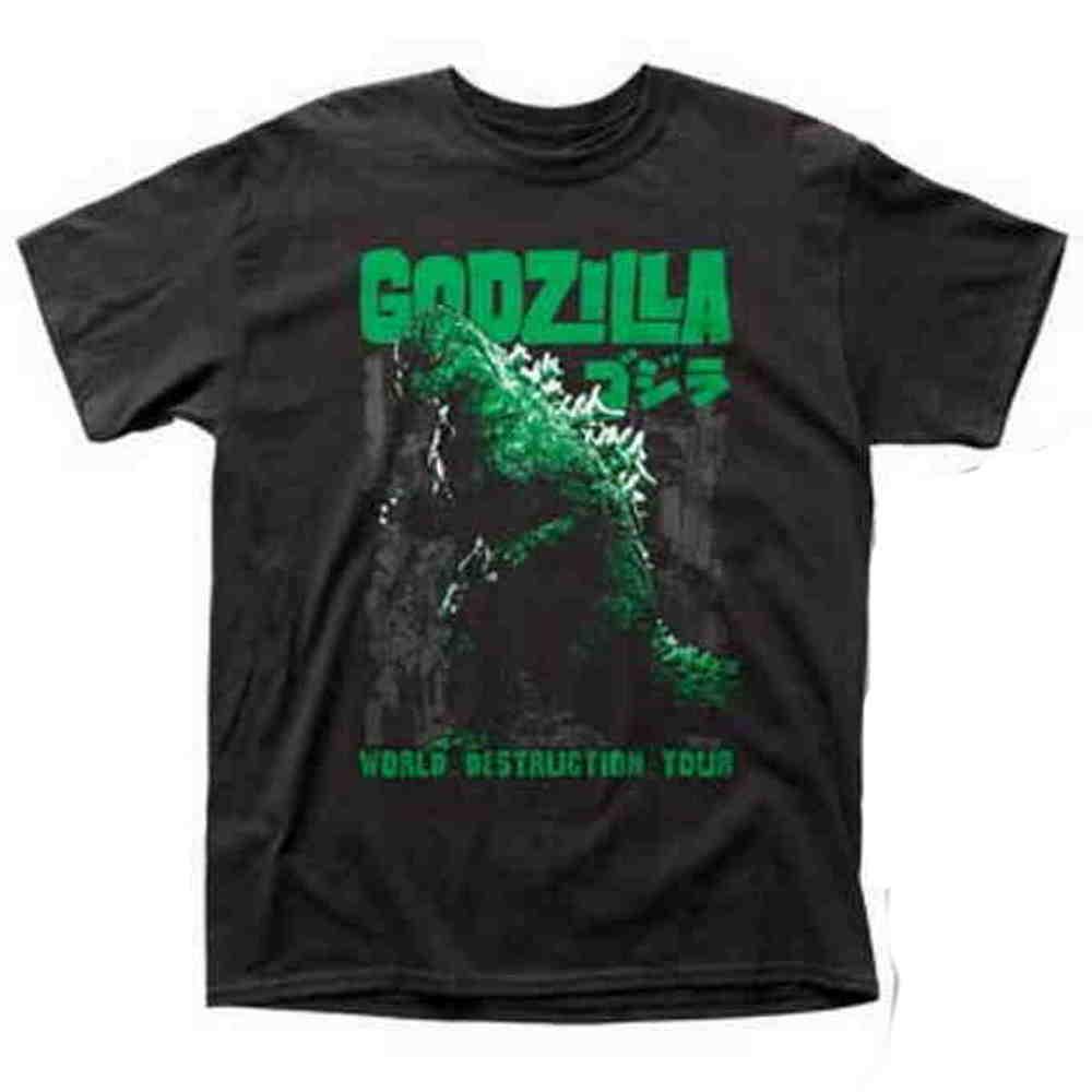 GODZILLA ゴジラ (映画『ゴジラ対コング』公開記念 ) - WORLD DESTRUCTION TOUR / バックプリントあり / Tシャツ / メンズ 【公式 / オフィシャル】