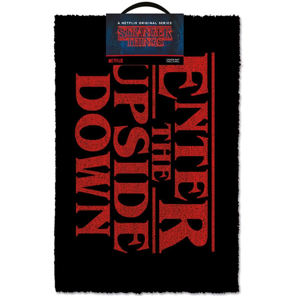 STRANGER THINGS ストレンジャー・シングス (放送5周年 ) - Enter The Upside Down / ドアマット / インテリア雑貨 【公式 / オフィシャル】