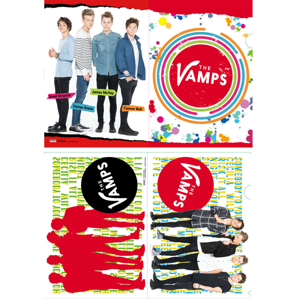 日本限定公式商品 THE VAMPS ザ・ヴァンプス - THE VAMPS クリアファイル2枚セット / クリアファイル 【公式 / オフィシャル】
