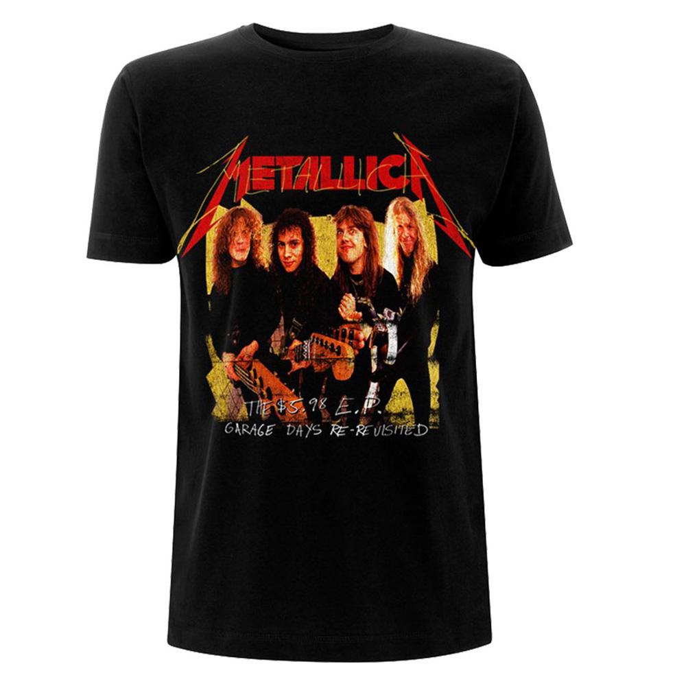 METALLICA メタリカ (結成40周年 ) - Garage Photo Yellow / バックプリントあり / Tシャツ / メンズ 【公式 / オフィシャル】
