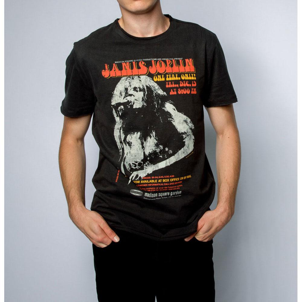 JANIS JOPLIN ジャニスジョプリン (追悼50周年 ) - MADISON SQUARE / Amplified( ブランド ) / Tシャツ / メンズ 【公式 / オフィシャル】
