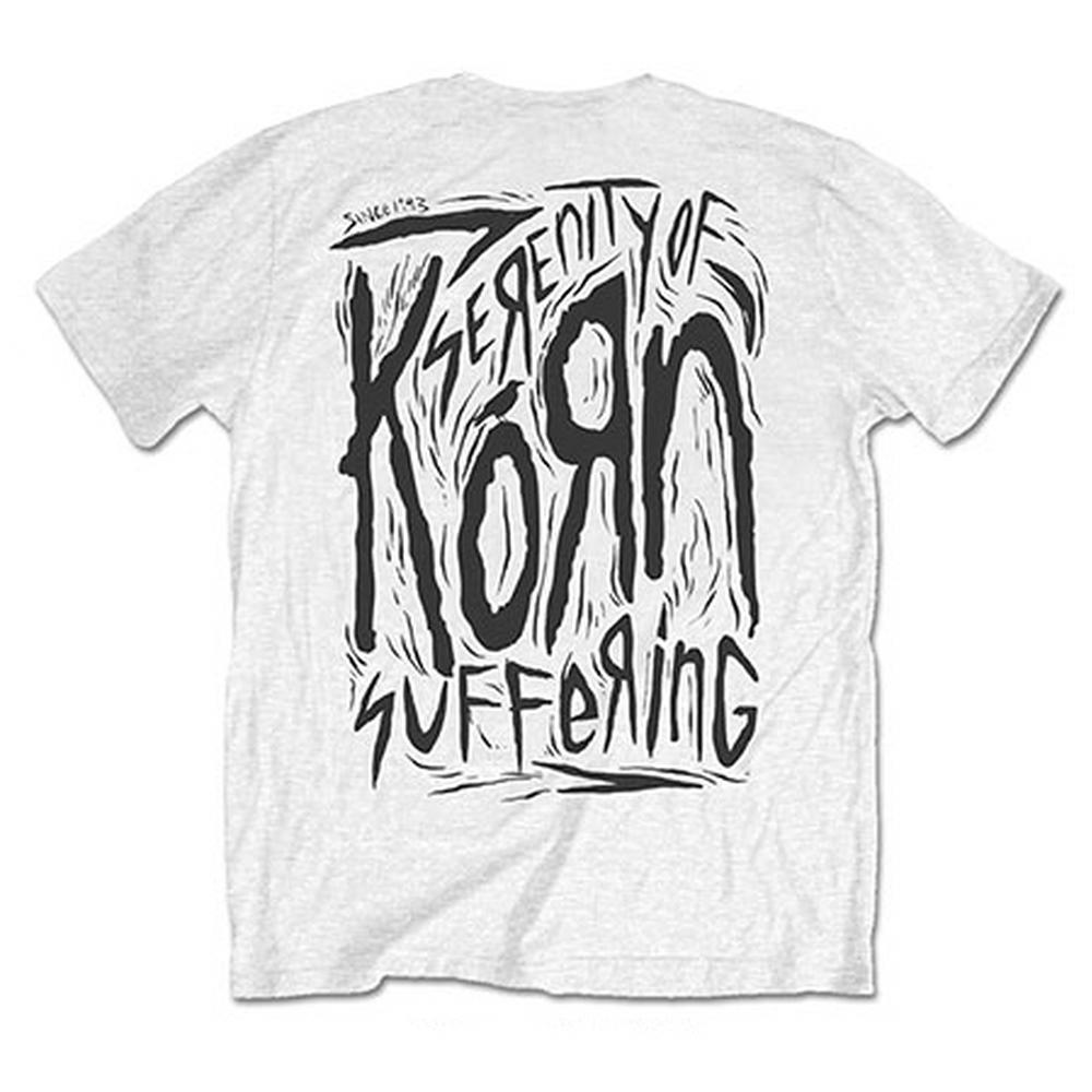 KORN コーン - Scratched Type / バックプリントあり / Tシャツ / メンズ 【公式 / オフィシャル】