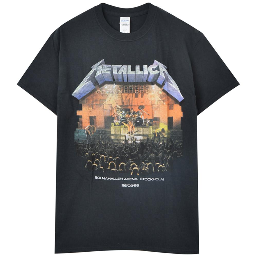 METALLICA メタリカ (結成40周年 ) - Stockholm '86. / バックプリントあり / Tシャツ / メンズ 【公式 / オフィシャル】
