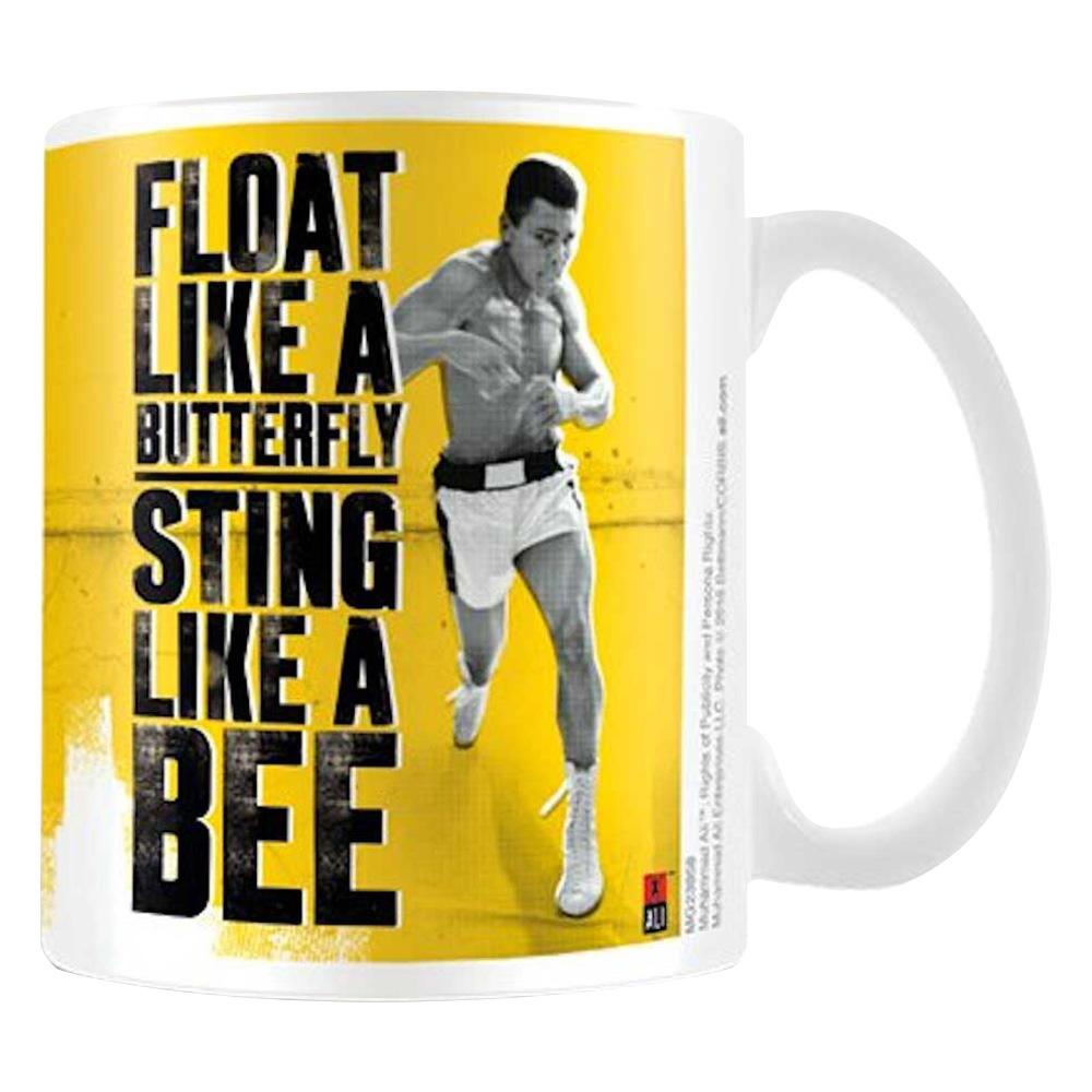 MUHAMMAD ALI モハメドアリ - FLOAT LIKE A BUTTERFLY, STING LIKE A BEE / マグカップ 【公式 / オフィシャル】