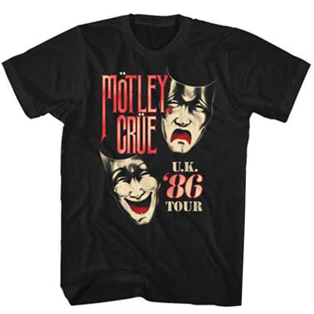 MOTLEY CRUE モトリークルー (結成40周年 ) - UK TOUR / バックプリントあり / Tシャツ / メンズ 【公式 / オフィシャル】