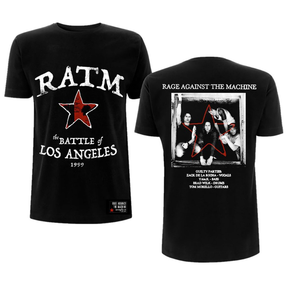 RAGE AGAINST THE MACHINE レイジアゲインストザマシーン (結成30周年 ) - Battle Star / バックプリントあり / Tシャツ / メンズ 【公式 / オフィシャル】