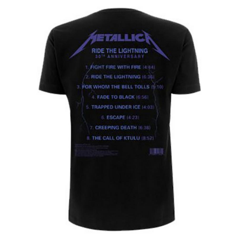 METALLICA メタリカ (結成40周年 ) - Ride The Lightning Tracks / バックプリントあり / Tシャツ / メンズ 【公式 / オフィシャル】