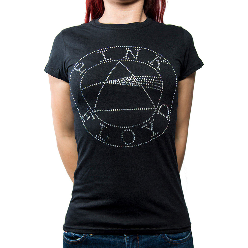 PINK FLOYD ピンクフロイド (初来日50周年記念 ) - CIRCLE LOGO / Diamante(ブランド) / Tシャツ / レディース 【公式 / オフィシャル】