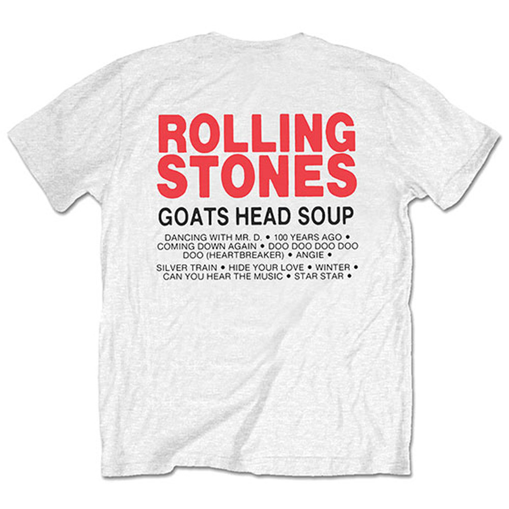 ROLLING STONES ローリングストーンズ (映画『GIMME SHELTER』公開50周年 ) - Goat Head Soup Tracklist / バックプリントあり / Tシャツ / メンズ 【公式 / オフィシャル】