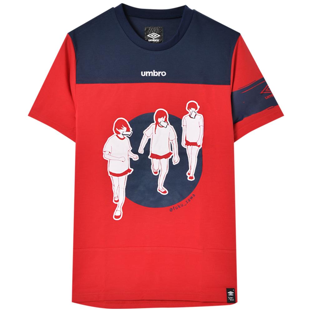 FUKUZAWA フクザワ - フクザワコラボ ドライTシャツ / バックプリントあり / umbro(ブランド) / Tシャツ / メンズ 【公式 / オフィシャル】