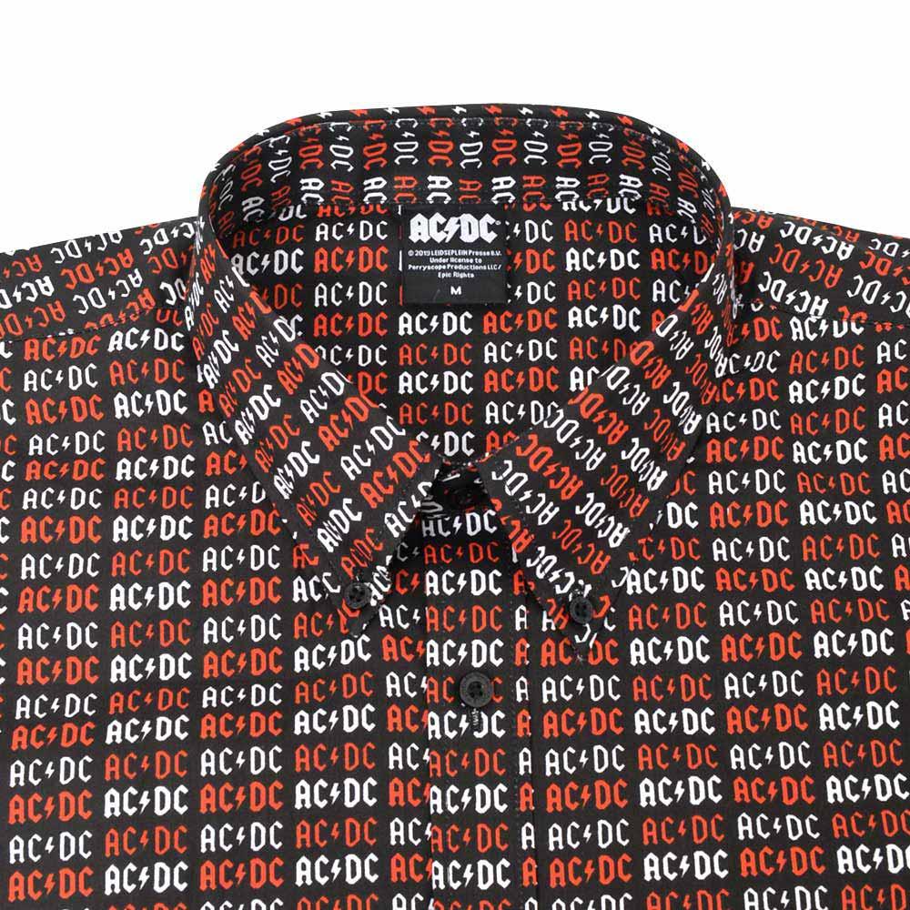 AC/DC エーシーディーシー (初来日40周年 ) - Logo / シャツ(襟付き) / メンズ 【公式 / オフィシャル】