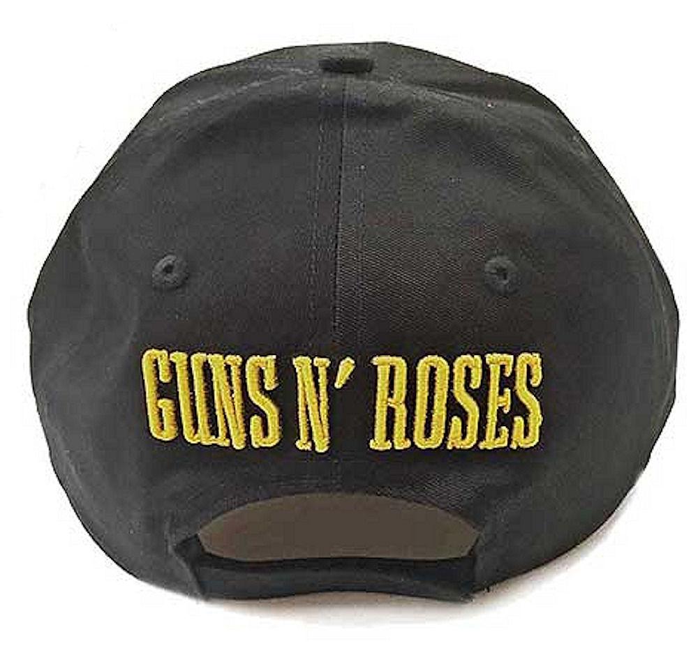 GUNS N ROSES ガンズアンドローゼズ (デビュー35周年記念 ) - CIRCLE LOGO (刺繍/BACK LOGO) / キャップ / メンズ 【公式 / オフィシャル】