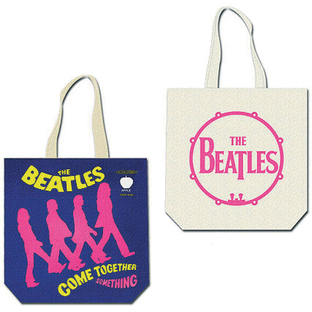 BEATLES ビートルズ (来日55周年記念 ) - Come Together (with zip top) / トートバッグ 【公式 / オフィシャル】