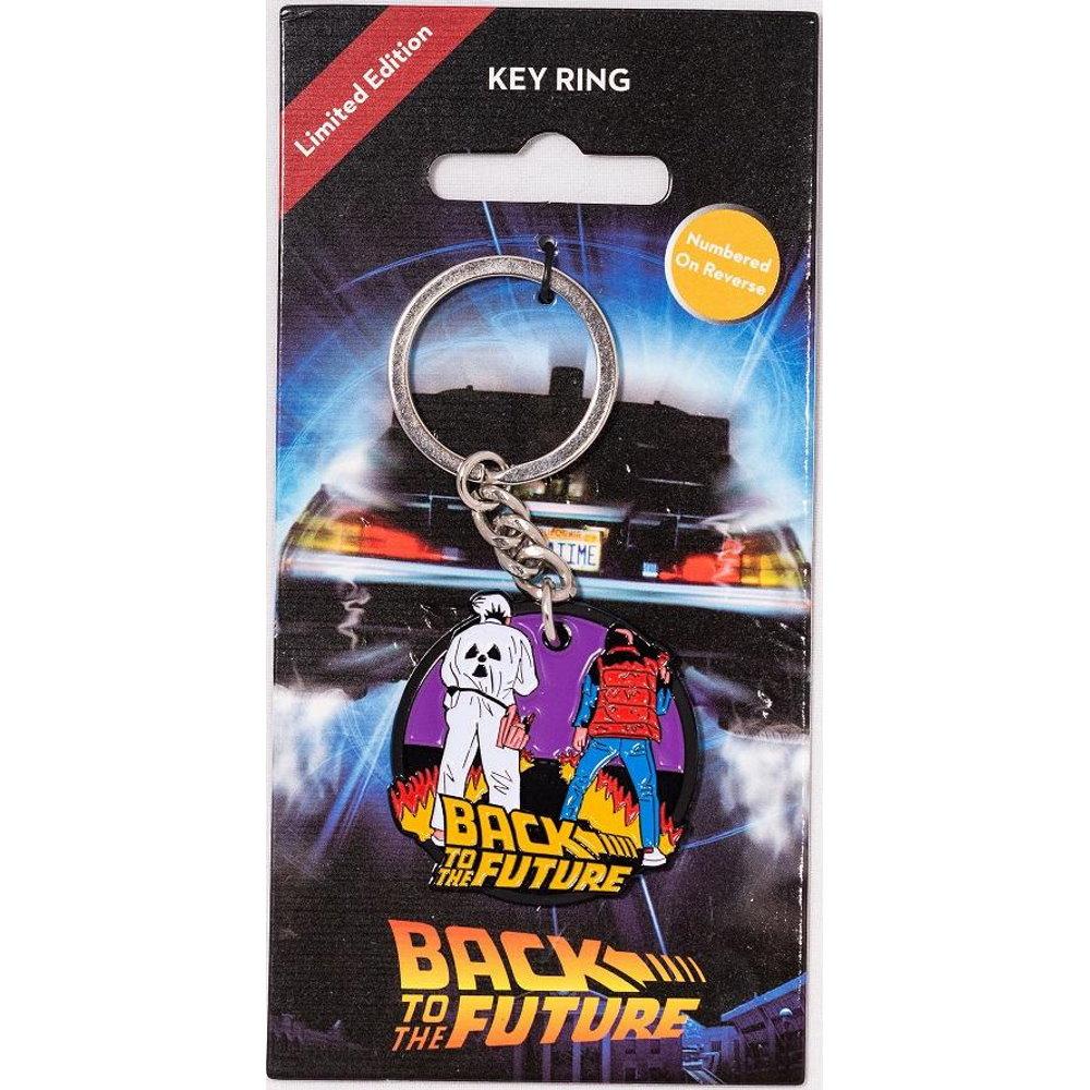 BACK TO THE FUTURE バックトゥザフューチャー (マイケルJフォックス生誕60周年 ) - Keyring / 世界限定9,995個 / キーホルダー 【公式 / オフィシャル】