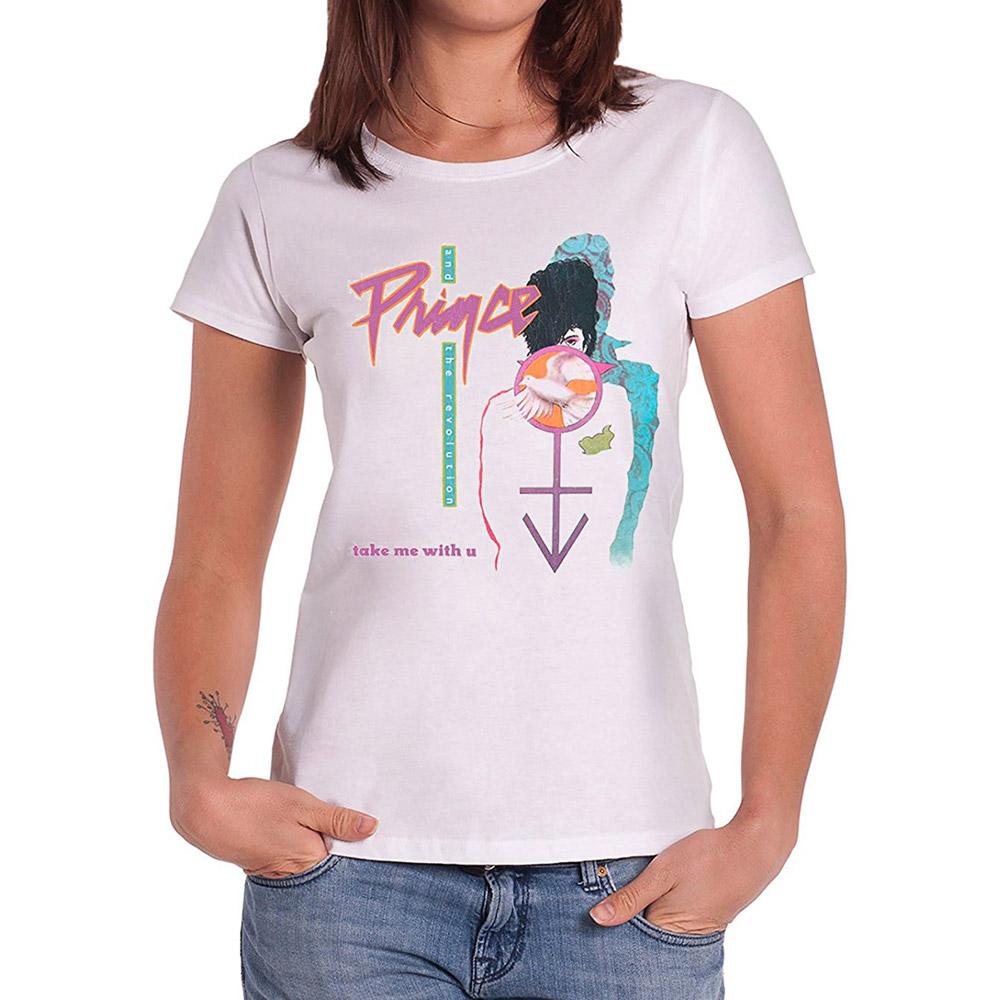PRINCE プリンス (初来日35周年 ) - TAKE ME WITH U / Tシャツ / レディース 【公式 / オフィシャル】