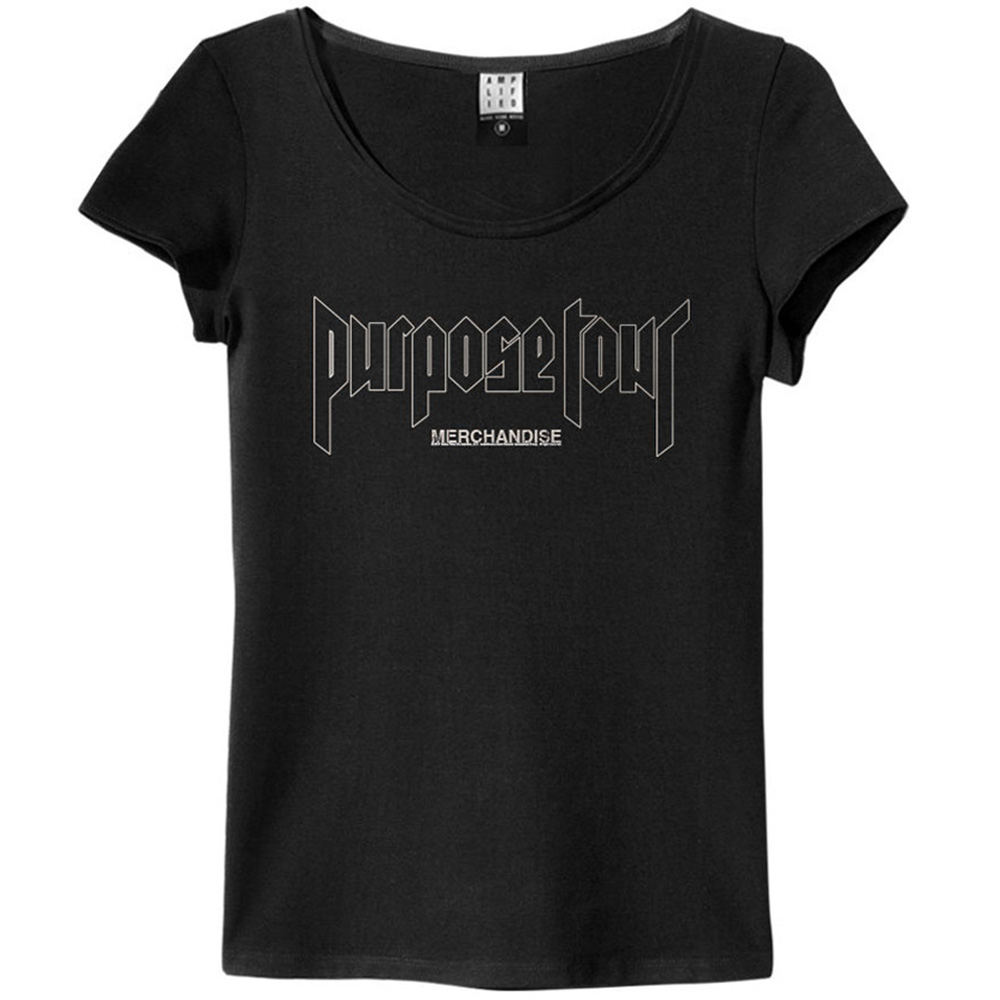 JUSTIN BIEBER ジャスティンビーバー - WORLD TOUR 2017 / Amplified( ブランド ) / バックプリントあり / Tシャツ / レディース 【公式 / オフィシャル】