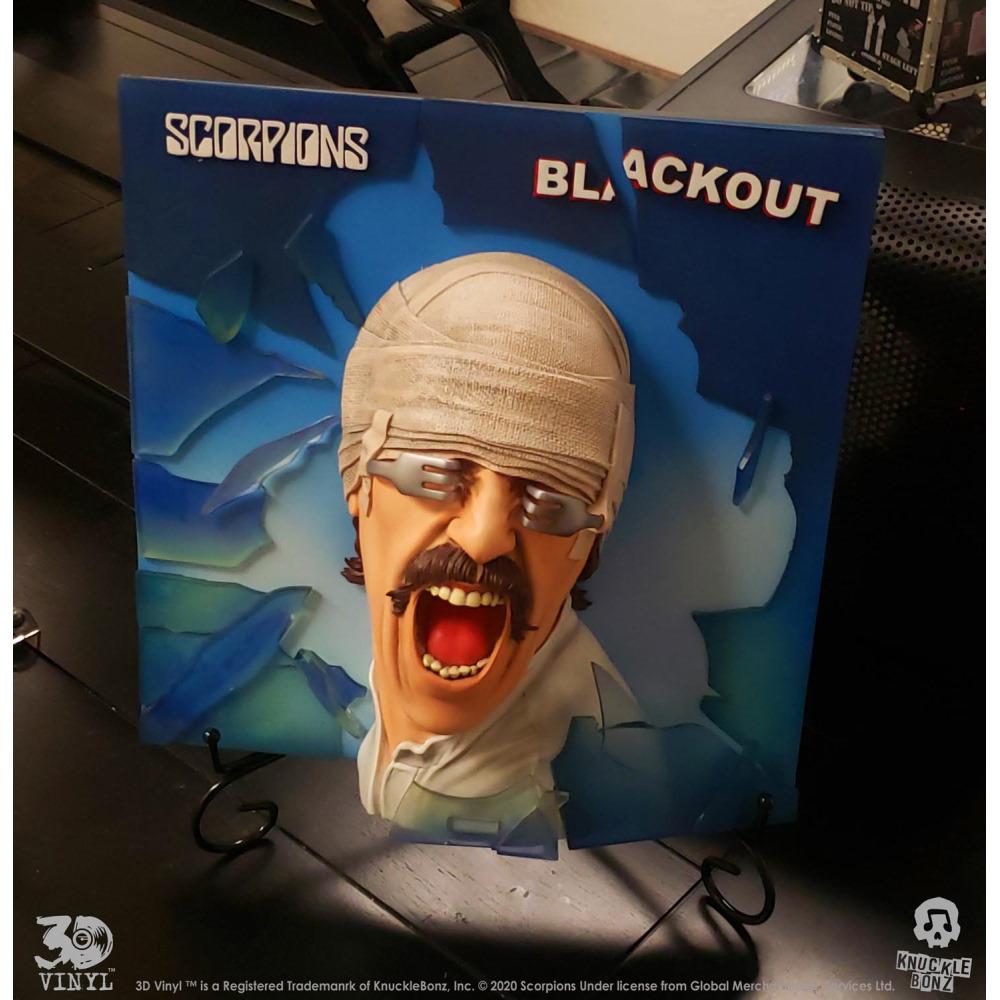 【予約商品】 【プレゼント付き】 SCORPIONS スコーピオンズ - Blackout 3D Vinyl / 世界限定1982 / インテリア置物 【公式 / オフィシャル】