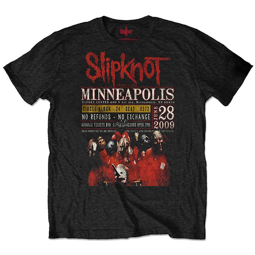 SLIPKNOT スリップノット - Minneapolis '09 / ECO-TEE / バックプリントあり / Tシャツ / メンズ 【公式 / オフィシャル】