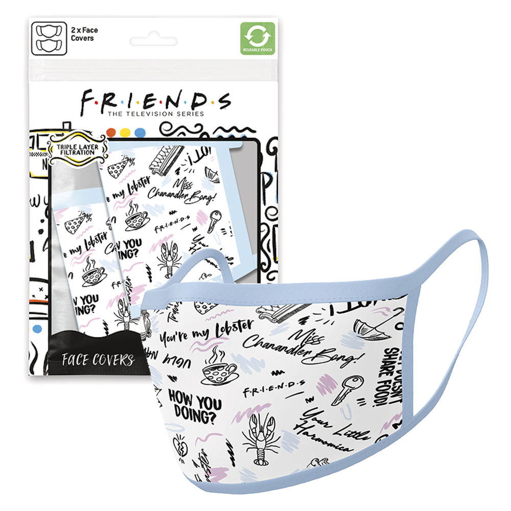 FRIENDS フレンズ - Phrases / フェイスカバー2枚セット / 生活雑貨 【公式 / オフィシャル】