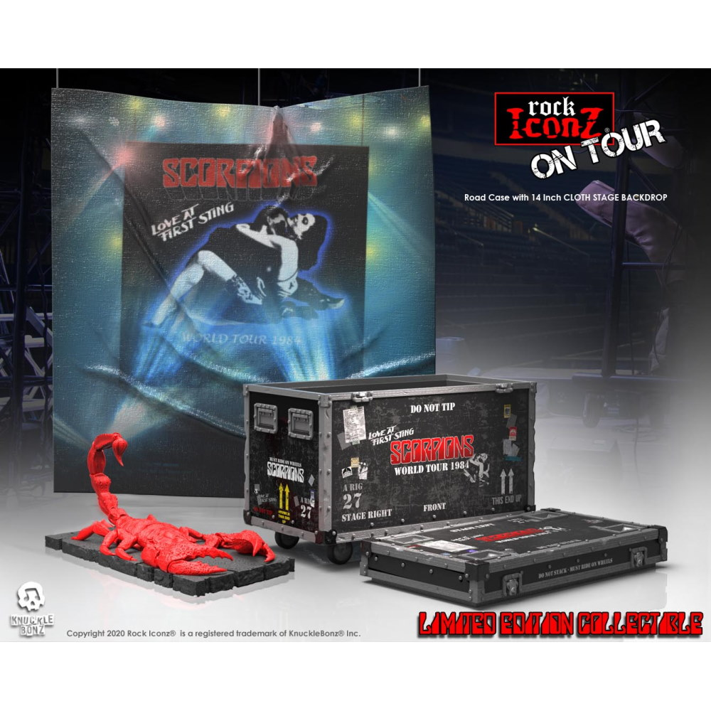 【予約商品】 【プレゼント付き】 SCORPIONS スコーピオンズ - Road Case On Tour Series Collectible / 世界限定3000 / インテリア置物 【公式 / オフィシャル】