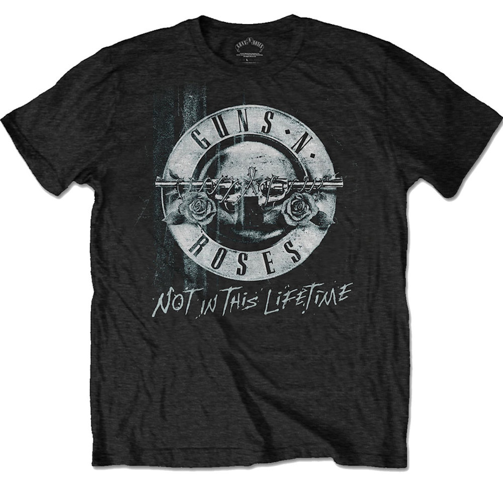 GUNS N ROSES ガンズアンドローゼズ (デビュー35周年記念 ) - NOT IN THIS LIFETIME TOUR(ツアーTシャツ) / バックプリントあり / Tシャツ / メンズ 【公式 / オフィシャル】