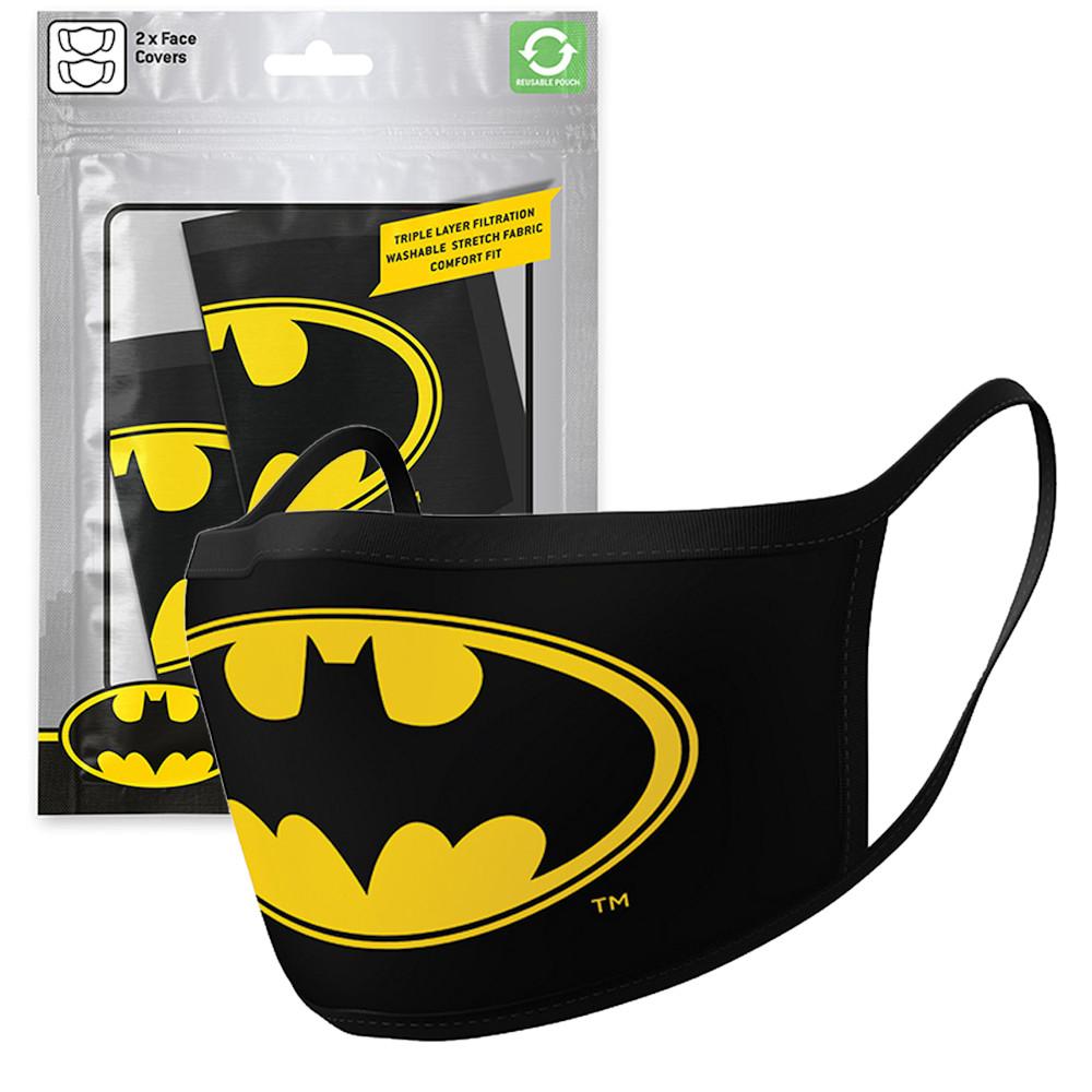BATMAN バットマン - Logo 2枚セット / ファッション・マスク 【公式 / オフィシャル】