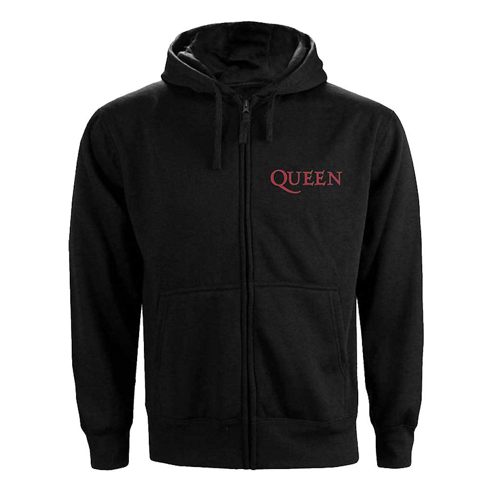 QUEEN クイーン (フレディ追悼30周年 ) - Ladies : Classic Crest /ジップ /バックプリントあり / スウェット・パーカー / レディース 【公式 / オフィシャル】