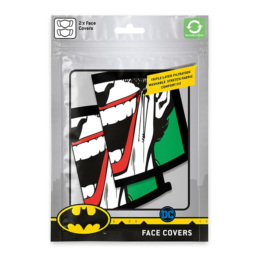 DC COMICS DCコミックス - Joker Face 2枚セット / ファッション・マスク 【公式 / オフィシャル】