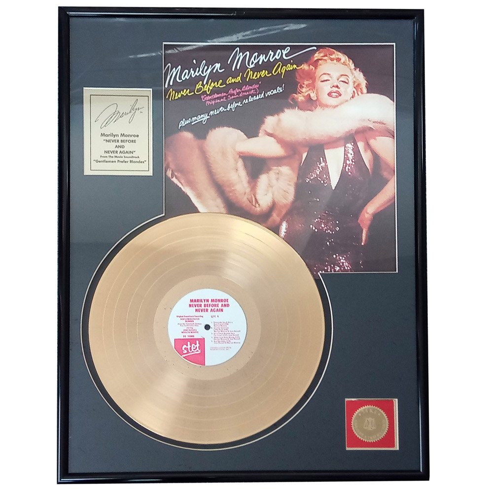 MARILYN MONROE マリリンモンロー (生誕95周年 ) - never before and never again / GOLD DISC / コレクタブル