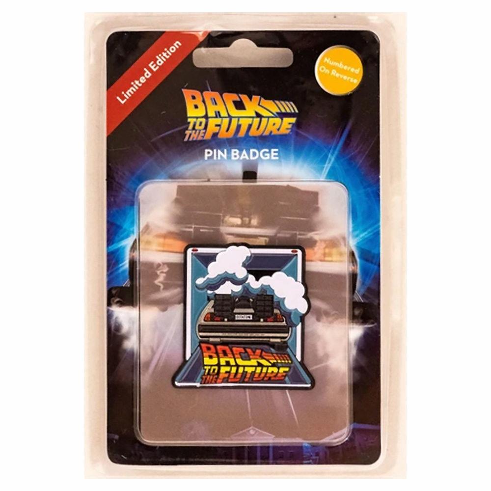 BACK TO THE FUTURE バックトゥザフューチャー (マイケルJフォックス生誕60周年 ) - Limited edition Pin Badge / 世界限定9,995個 / バッジ 【公式 / オフィシャル】