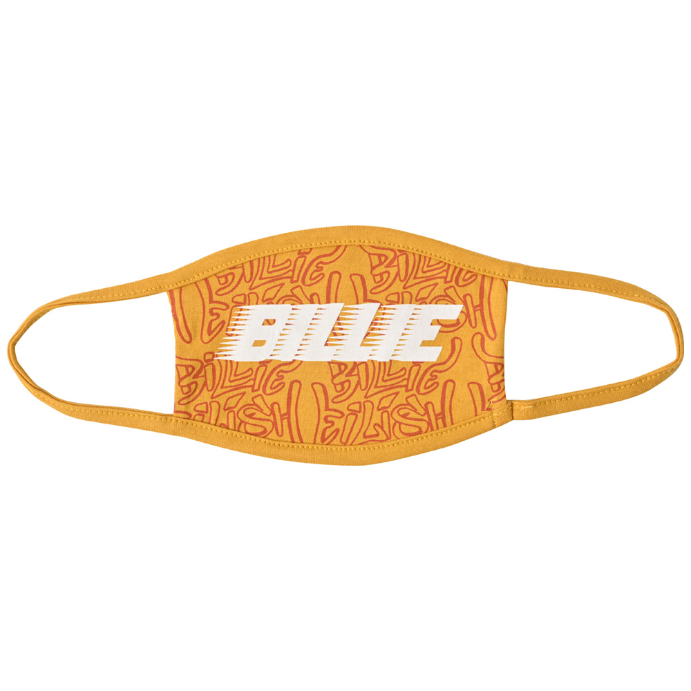 BILLIE EILISH ビリーアイリッシュ (デビュー5周年 ) - Racer Logo & Graffiti Yellow / フェイスカバー / 生活雑貨 【公式 / オフィシャル】