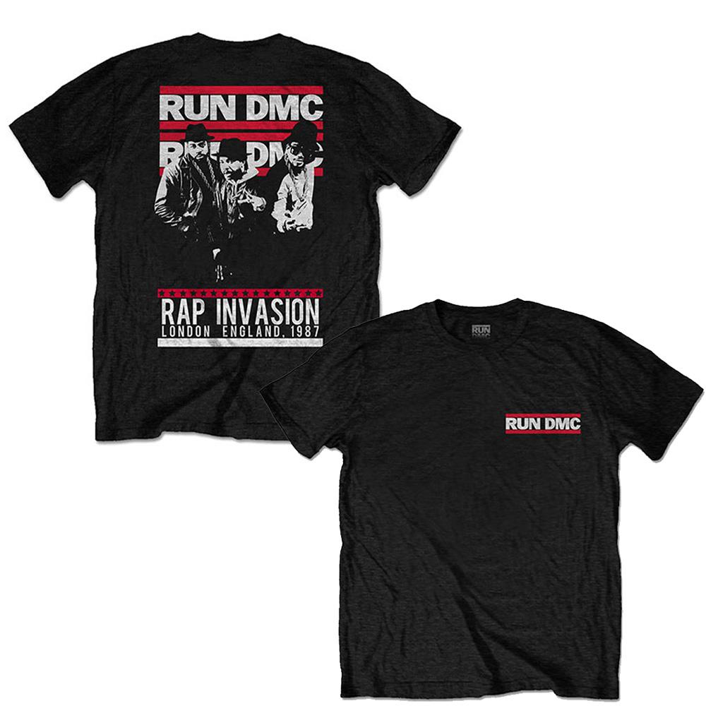 RUN DMC ランディーエムシー (結成40周年 ) - Rap Invasion / バックプリントあり / Tシャツ / メンズ 【公式 / オフィシャル】