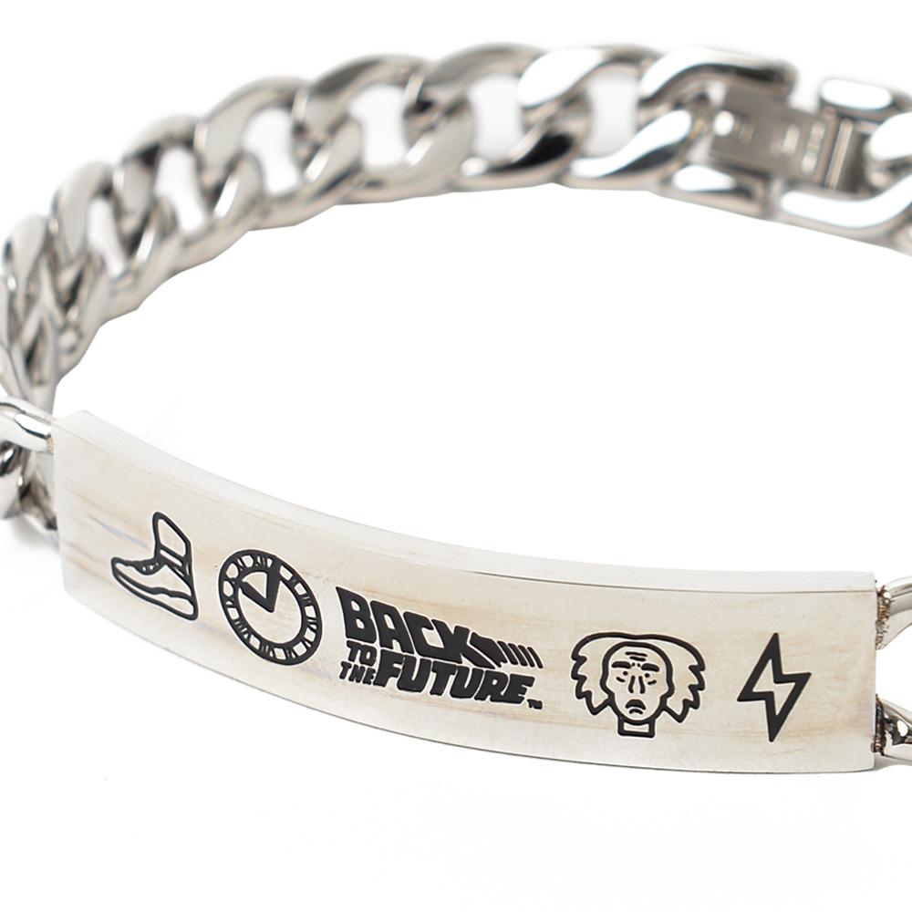 BACK TO THE FUTURE バックトゥザフューチャー (マイケルJフォックス生誕60周年 ) - Stainless Steel Bracelet / 世界限定9995本 / ブレスレット 【公式 / オフィシャル】
