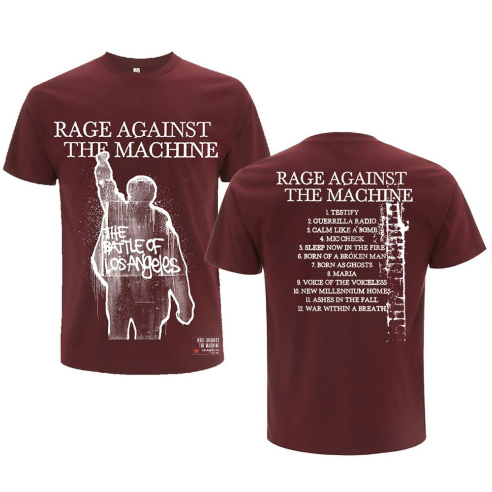 RAGE AGAINST THE MACHINE レイジアゲインストザマシーン (結成30周年 ) - BOLA Album Cover / バックプリントあり / Tシャツ / メンズ