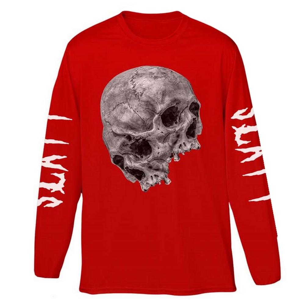 YOUNG THUG ヤング・サグ (生誕30周年 ) - Thugger Skull / バック & アームプリントあり / 長袖 / Tシャツ / メンズ