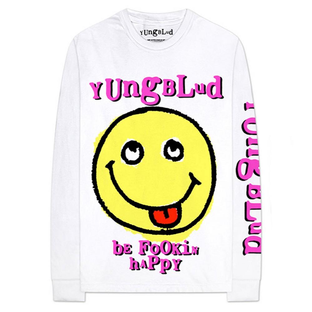 YUNGBLUD ヤングブラッド - Raver Smile / アーム&バックプリントあり / 長袖 / Tシャツ / メンズ