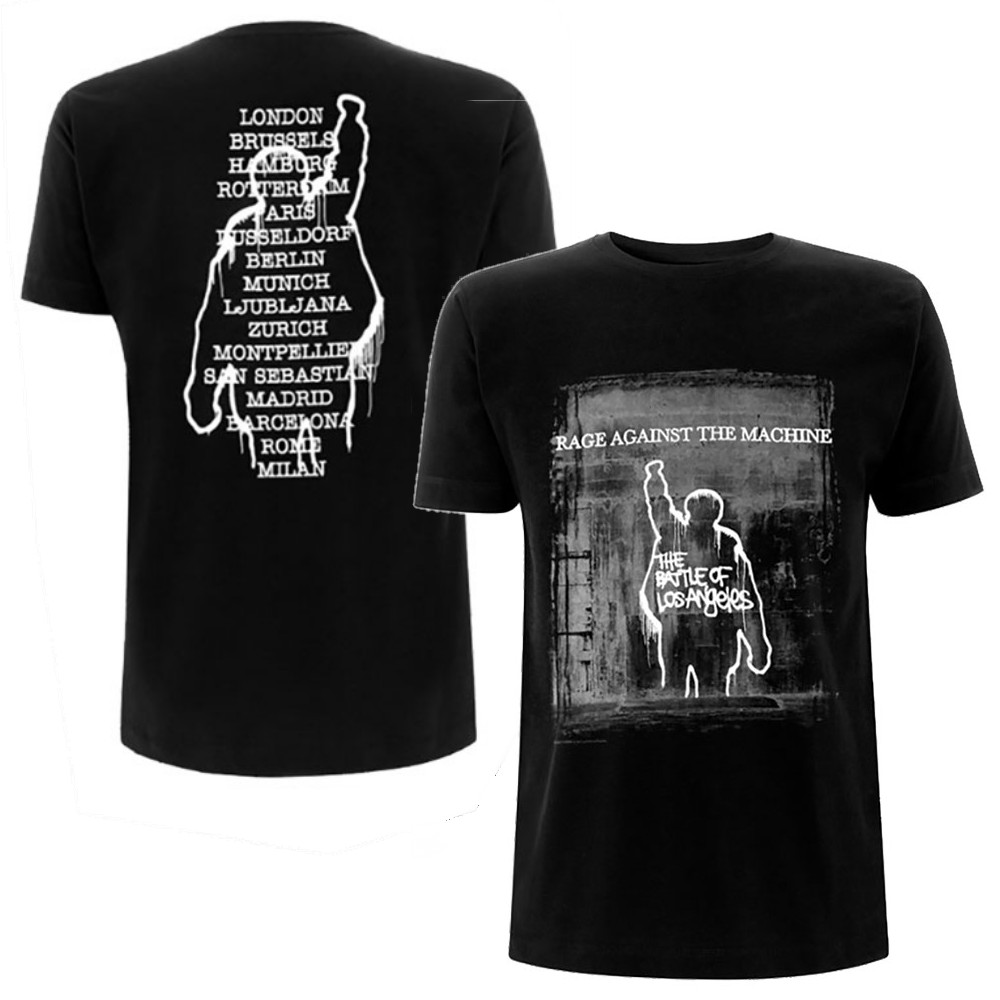 RAGE AGAINST THE MACHINE レイジアゲインストザマシーン (結成30周年 ) - BOLA Euro Tour / バックプリントあり / Tシャツ / メンズ